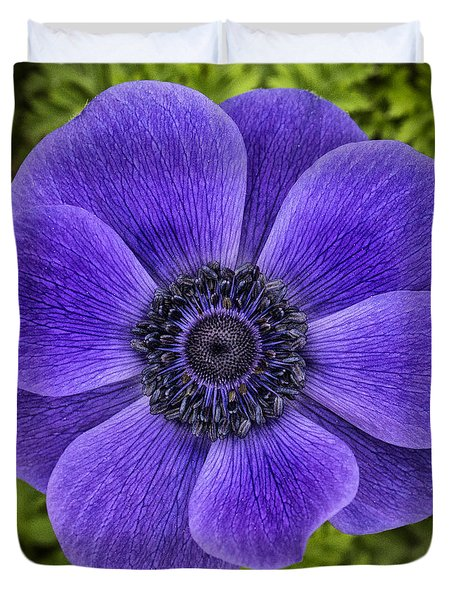 Purple Blue Anemone Duvet Cover