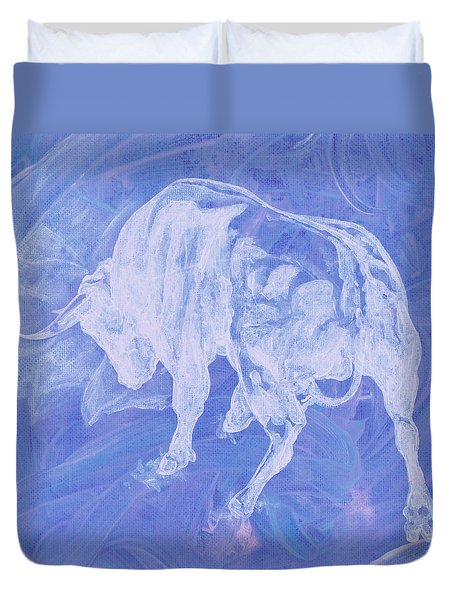 Purple Bull Negative Duvet Cover