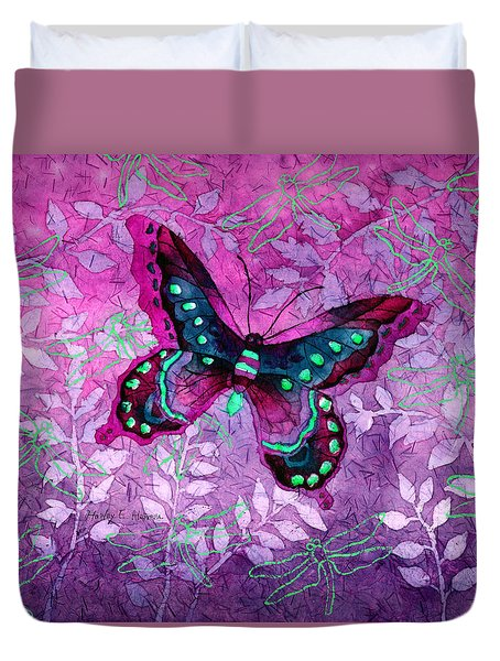 Purple Butterfly Duvet Cover