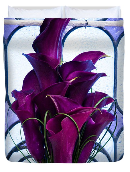 Purple Calla Lilies Duvet Cover