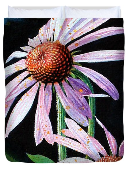 Purple Cone Flowers 1 Duvet Cover by Hanne Lore Koehler