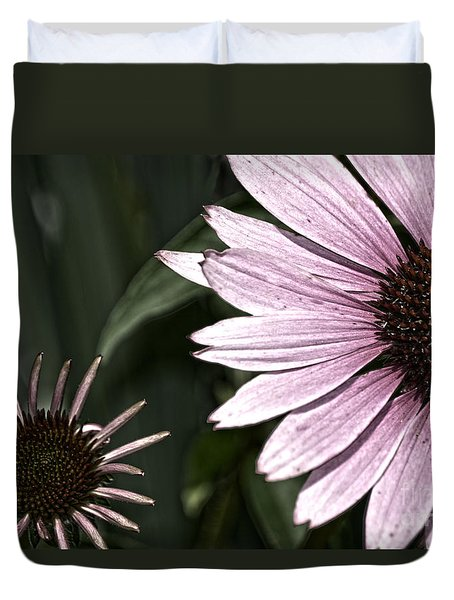Purple Coneflower Imperfection Duvet Cover