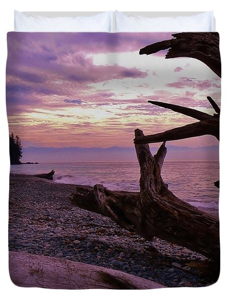 Duvet Cover featuring the photograph Purple Dreams In Bc by Barbara St Jean