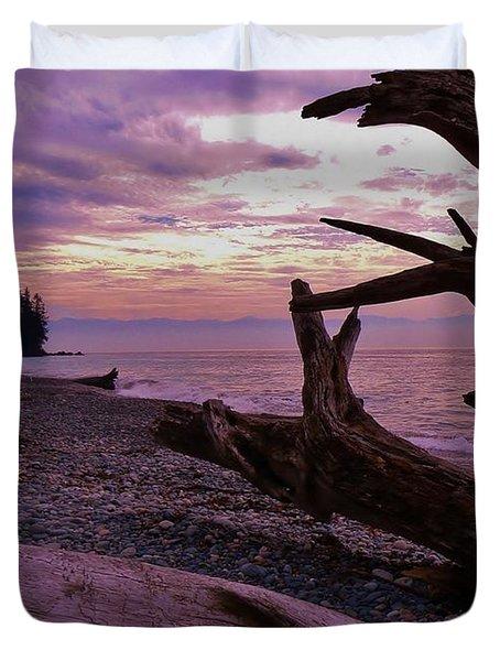 Purple Dreams In Bc Duvet Cover by Barbara St Jean