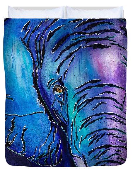 Purple Elephant Duvet Cover
