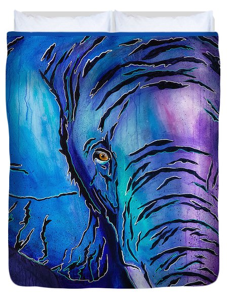Purple Elephant Duvet Cover