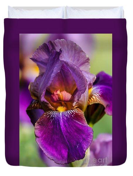 Purple Flag Duvet Cover