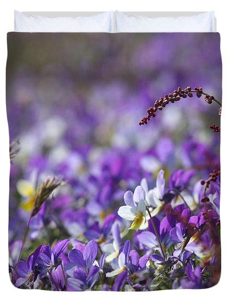 Purple Flower Bed Duvet Cover