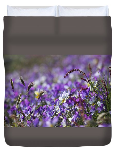 Purple Flower Bed Duvet Cover