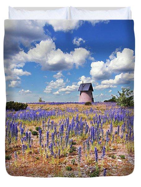 Purple Flower Countryside Duvet Cover