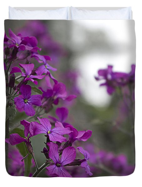 Purple Flowers Duvet Cover