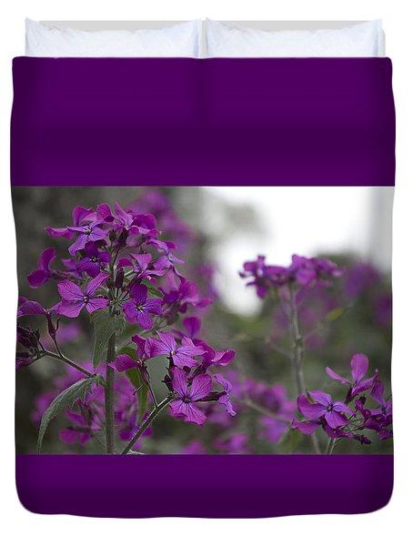 Purple Flowers Duvet Cover