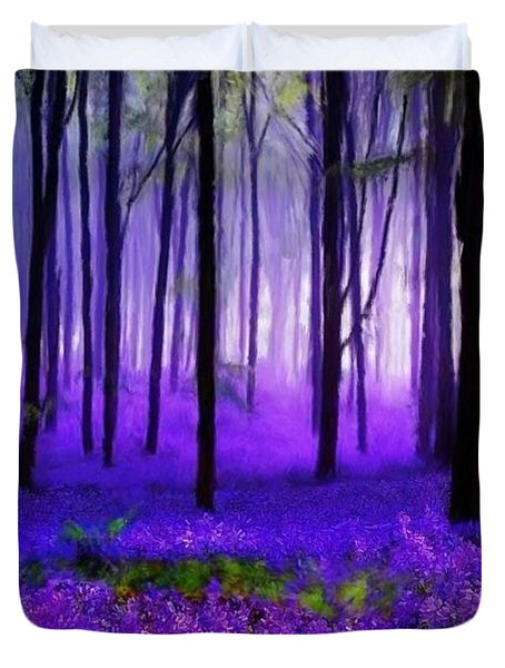 Purple Forest Duvet Cover
