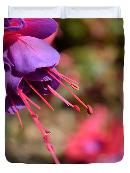 Purple Fuchsia Duvet Cover