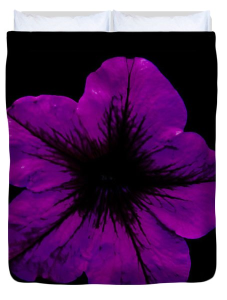 Duvet Cover featuring the photograph Purple Geranium by Scott Lyons