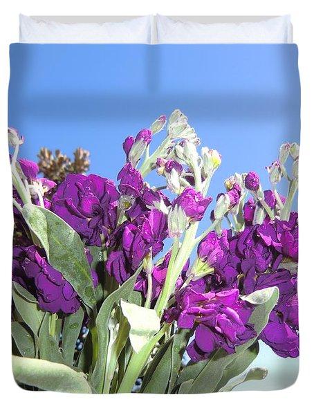 Purple Glow Duvet Cover