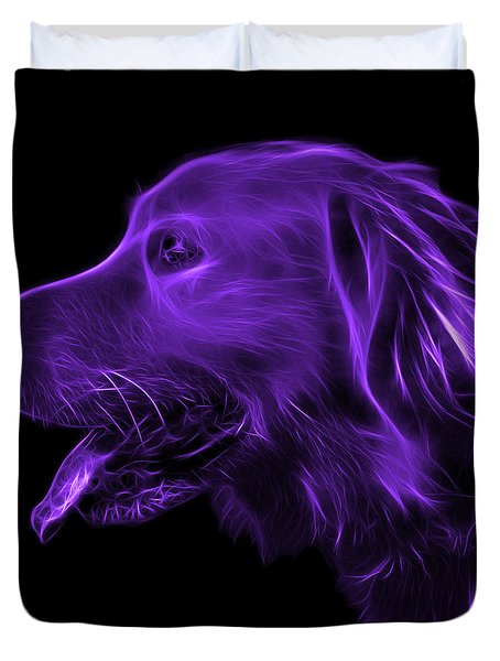 Purple Golden Retriever - 4047 F Duvet Cover