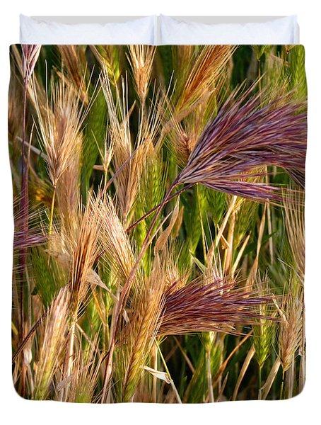 Purple Grasses Duvet Cover by Meghan at FireBonnet Art