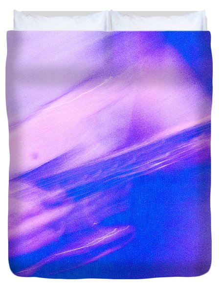 Duvet Cover featuring the photograph Purple Haze by Alex Lapidus