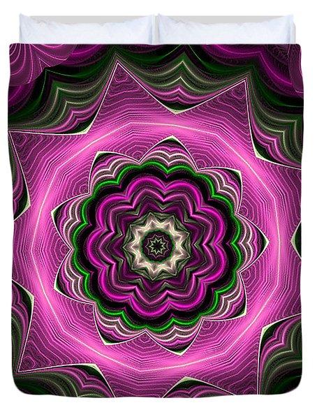 Purple Haze Kaleidoscope Duvet Cover