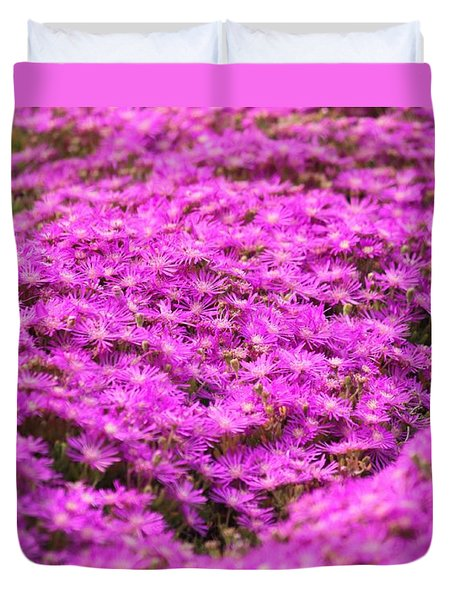 Duvet Cover featuring the photograph Purple Hills by Amy Gallagher