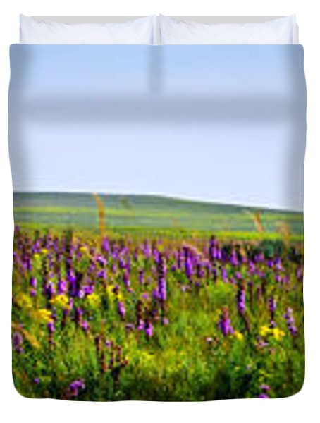 Purple Hills Duvet Cover