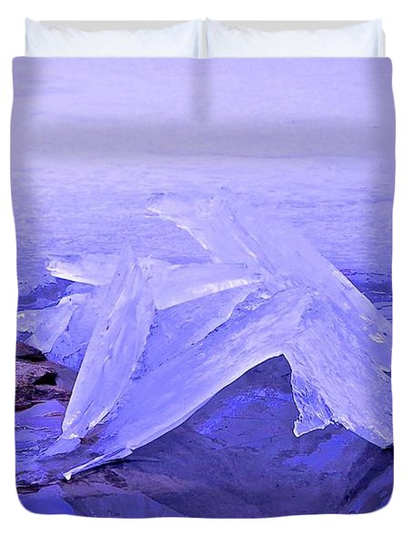 Purple Ice Duvet Cover by Randi Shenkman
