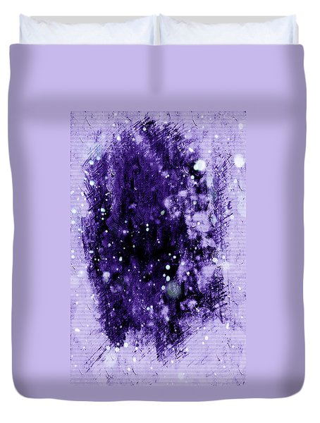 Purple Impression Duvet Cover