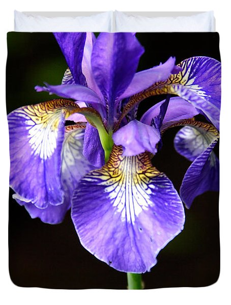 Purple Iris Duvet Cover