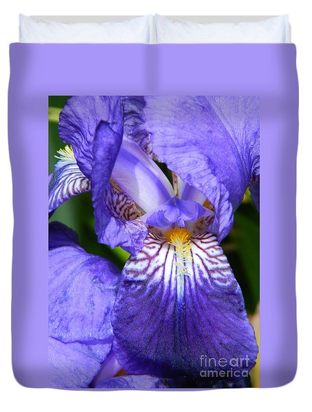 Purple Iris Duvet Cover by Chalet Roome-Rigdon