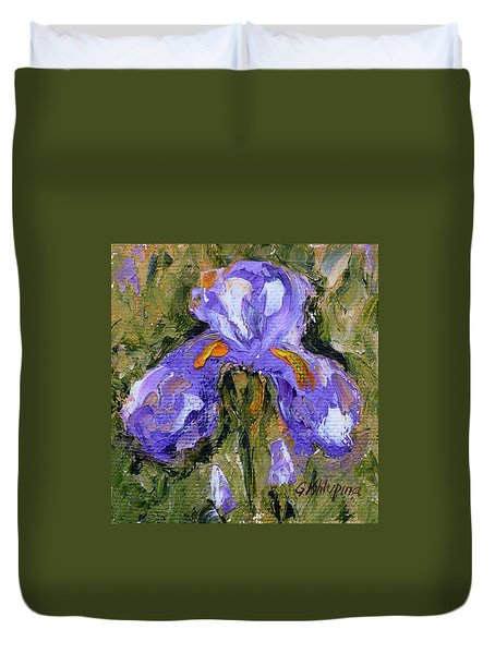 Purple Iris2 Duvet Cover