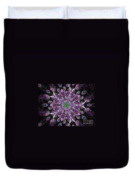 Purple Lilac Kalidescope Duvet Cover