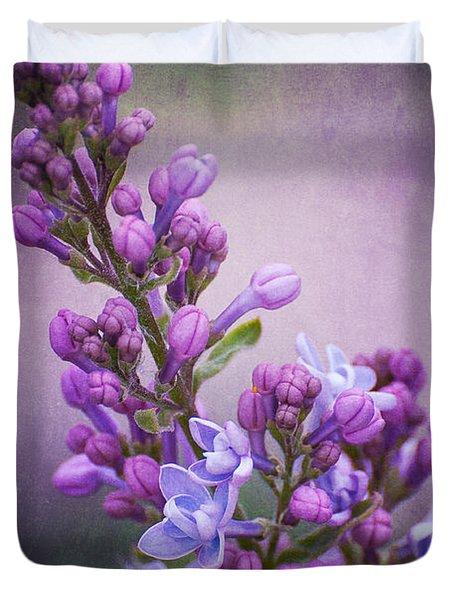 Purple Lilacs Duvet Cover by Bianca Nadeau