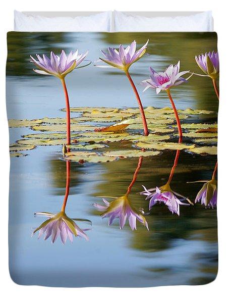 Purple Lillies Duvet Cover
