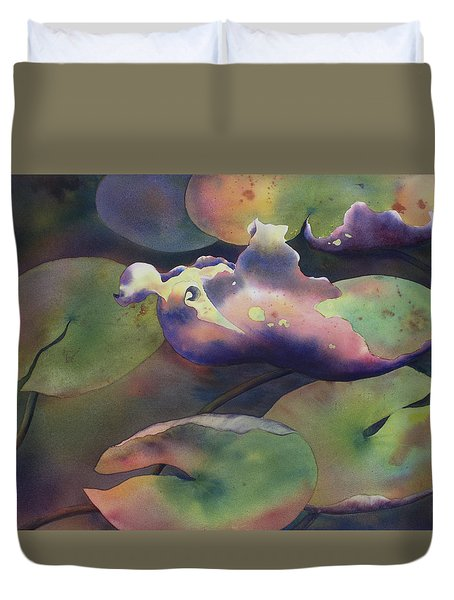 Purple Linings II Duvet Cover