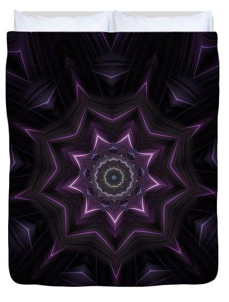 Purple Majestry Kaleidoscope Duvet Cover