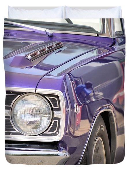Purple Mopar Duvet Cover