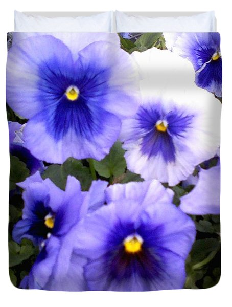 Duvet Cover featuring the photograph Purple Morning Glory by Fortunate Findings Shirley Dickerson