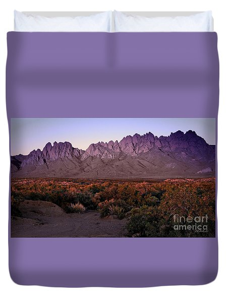 Purple Mountain Majesty Duvet Cover by Barbara Chichester