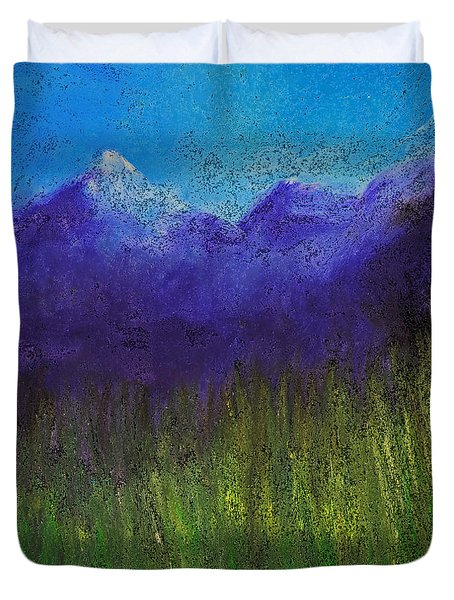 Purple Mountains By Jrr Duvet Cover by First Star Art