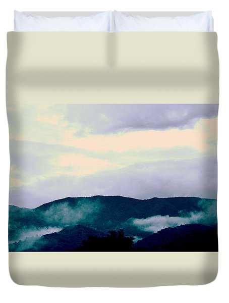 Purple Mountains Majesty Blue Ridge Mountains Duvet Cover