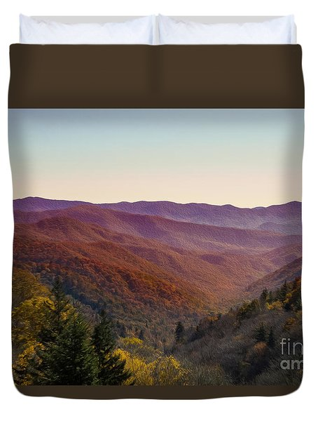 Purple Mountains Majesty Duvet Cover