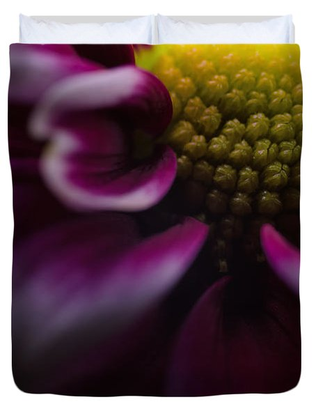 Purple Mum Macro Duvet Cover