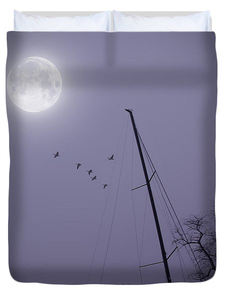 Purple Night Duvet Cover by Brian Wallace