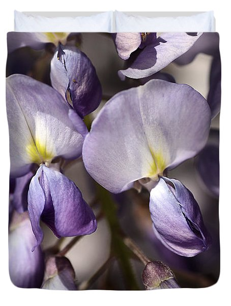 Duvet Cover featuring the photograph Purple Of Wisteria by Joy Watson