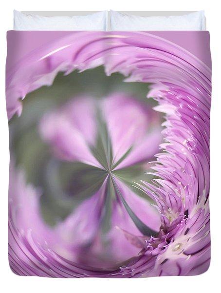 Purple Orb Duvet Cover by Kim Hojnacki