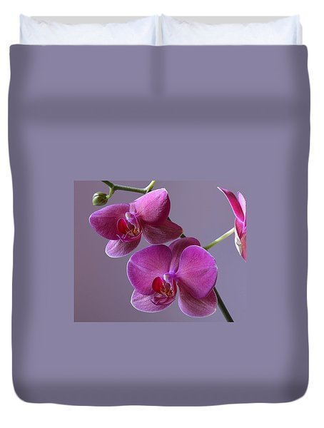 Purple Orchid Duvet Cover
