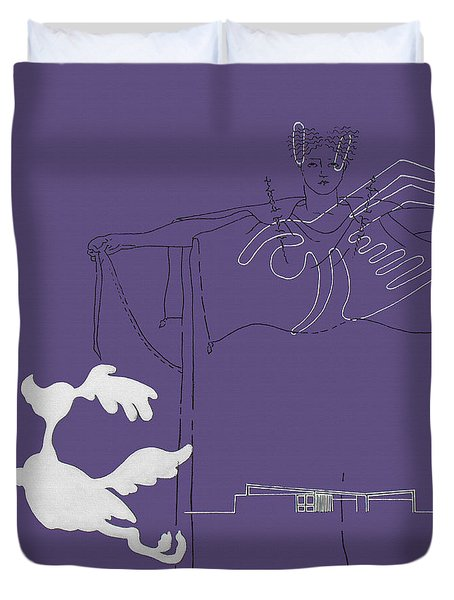 Purple Palm Springs Idyll Duvet Cover by Stan  Magnan