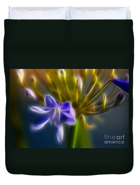 Purple Passion 6318-fractal Duvet Cover by Gary Gingrich Galleries