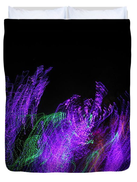 Purple Passion. Dancing Lights Series Duvet Cover by Ausra Huntington nee Paulauskaite